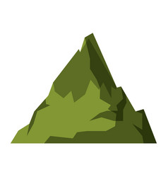 white background with green silhouette of mountain vector image