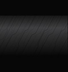 abstract black line polygon cyber on grey metallic vector image