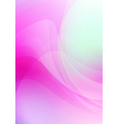 abstract curved on pink background vector image