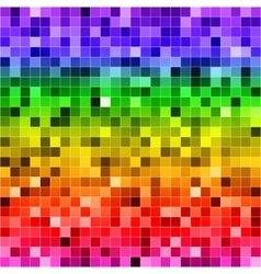 Abstract digital colorful pixels seamless pattern vector image