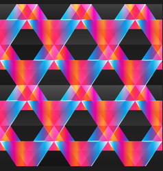 abstract neon triangle seamless pattern vector image