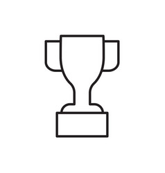 award line icon cup celebration championship vector image