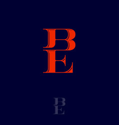 b e monogram logo combined letters emblem vector image