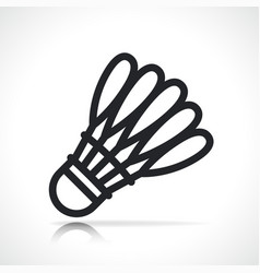 badminton shuttlecock line icon isolated vector image