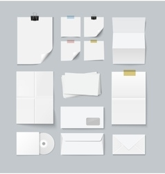 Branding set of paper templates vector