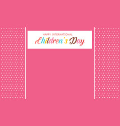 children day background style art vector image