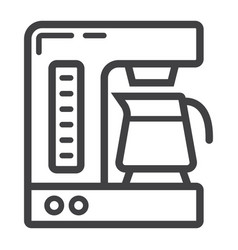 Coffee maker line icon kitchen and appliance vector