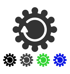 Cog rotation flat icon vector