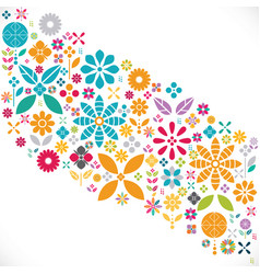 colorful flower pattern and graphic decoration vector image