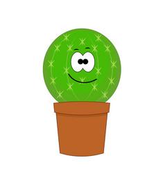 cute cartoon cactus isolated vector image