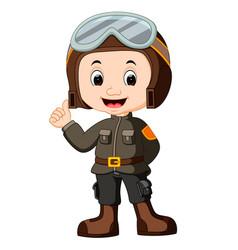 Cute pilot cartoon vector