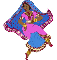 Dancing indian woman vector