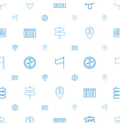 destination icons pattern seamless white vector image