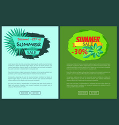 discount 25 off summer sale advertisement labels vector image