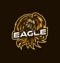 Eagle esport gaming mascot logo template for vector