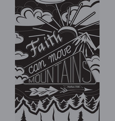faith can moves mountains vector image