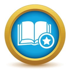 Favorite book icon vector