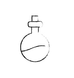 Figure erlenmeyer flak with chemical potion vector