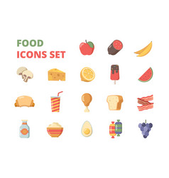 food icon fruits meat milk supermarket products vector image