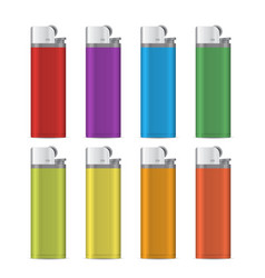 gas lighter empty mock up set vector image vector image