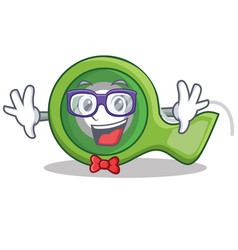 Geek adhesive tape character cartoon vector