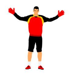 Goalkeeper defense position keep penalty vector
