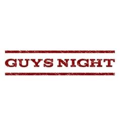 Guys Night Watermark Stamp vector