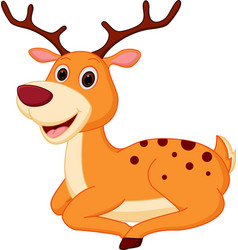 Happy deer cartoon vector