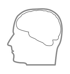 Head with brain the black color icon vector