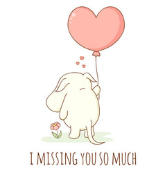 i missing you so much vector image