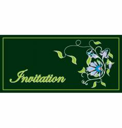 Invitation floral frame vector