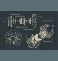 Jet engine compressor vector