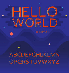 latin alphabet letters - space cosmic vector image