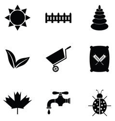Lawn icon set vector