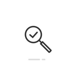 magnifying glass icon line outline art vector image