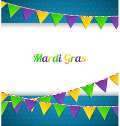 Mardi Gras background with flags vector image