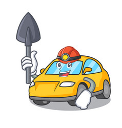 Miner taxi character mascot style vector