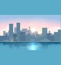 morning urban cityscape vector image