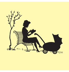 Motherwithcarriage vector
