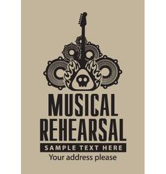 Musical Rehearsal vector