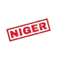 Niger rubber stamp vector