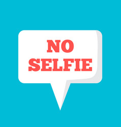 no selfie forbidden banner poster photo vector image