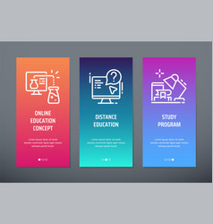 online education concept distance education vector image