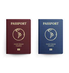 Passport with map south america realistic vector