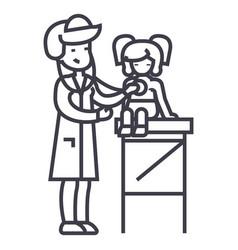Pediatrician doctorwoman doctor doing medical vector