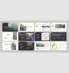 Presentation templates with red elements vector