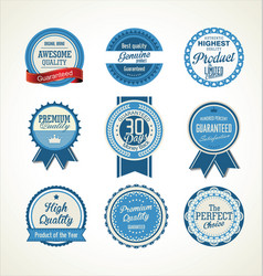 quality retro badge collection 4 vector image