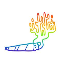 rainbow gradient line drawing cartoon medical pot vector image