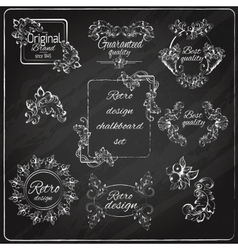 Retro design chalkboard vector