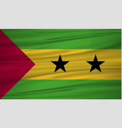 sao tome and principe flag flag of sao tome and vector image